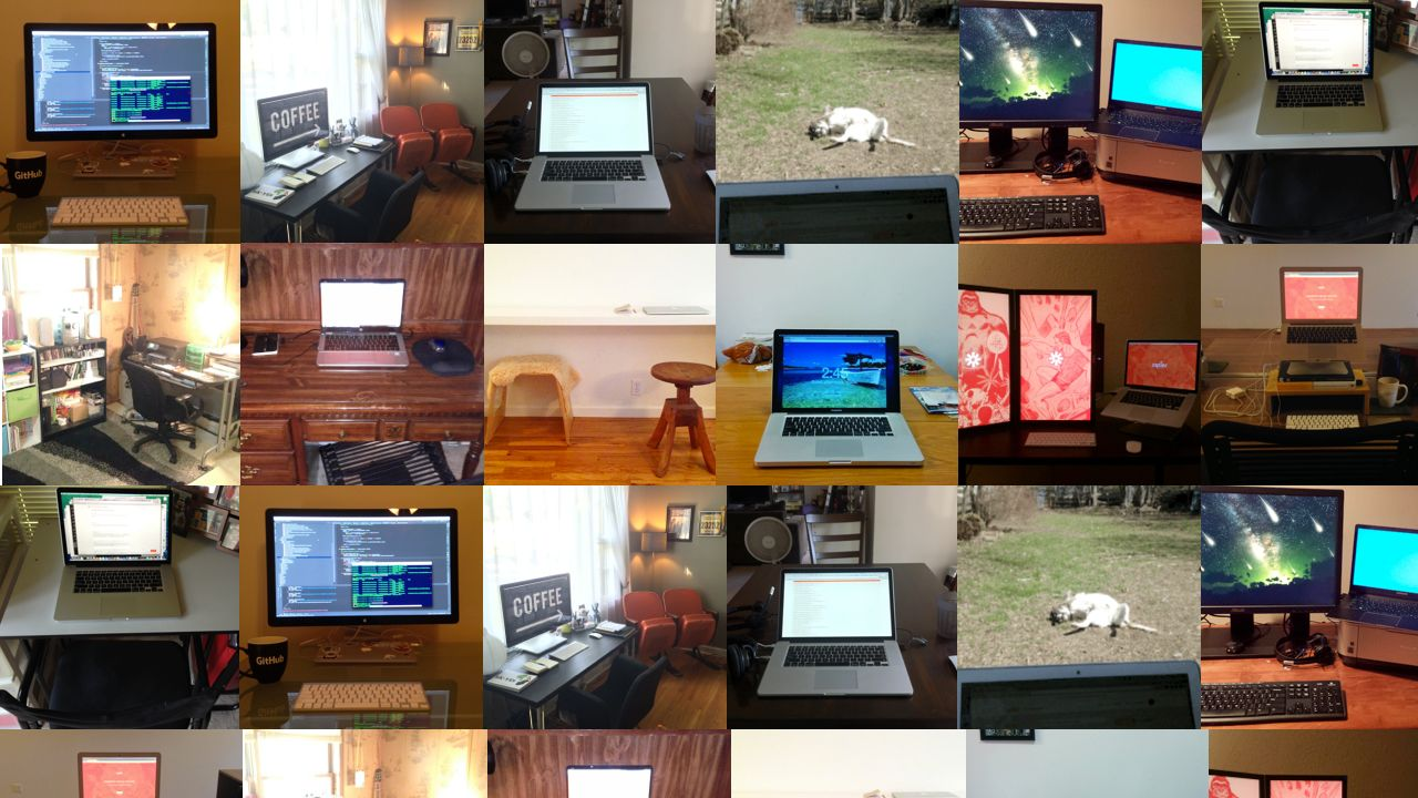 Home offices collage