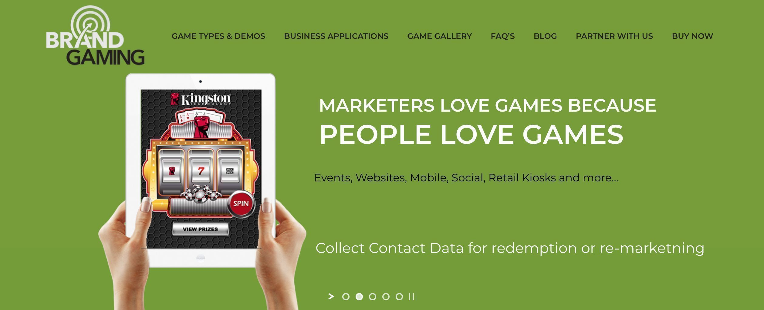 Brand Gaming home page