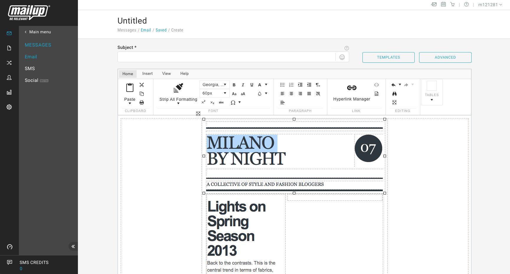 MailUp screenshot