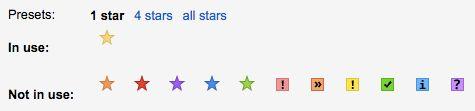 gmail stars