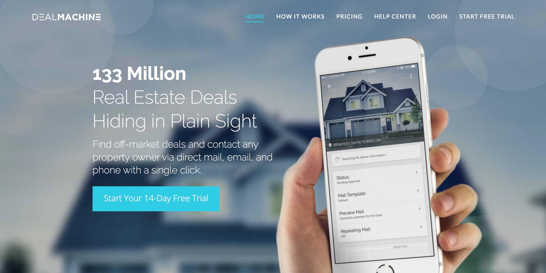 DealMachine home page