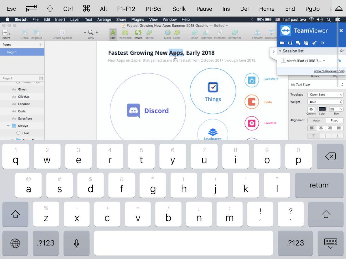 TeamViewer iPad