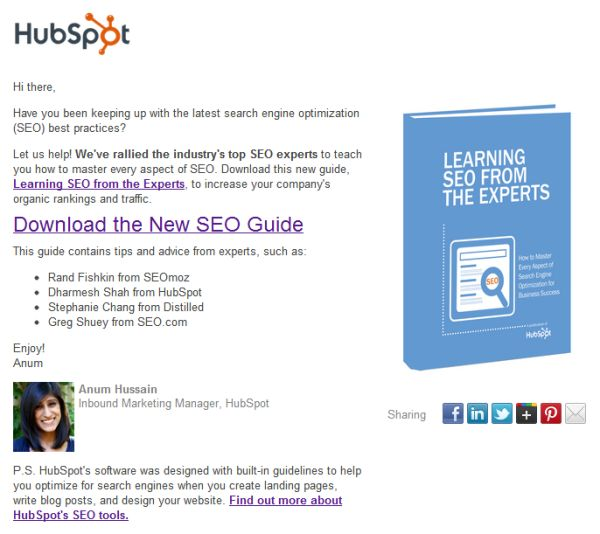 HubSpot email