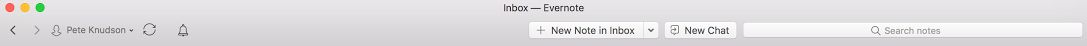 Evernote toolbar