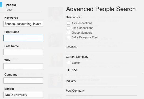 Find fellow alumni on LinkedIn