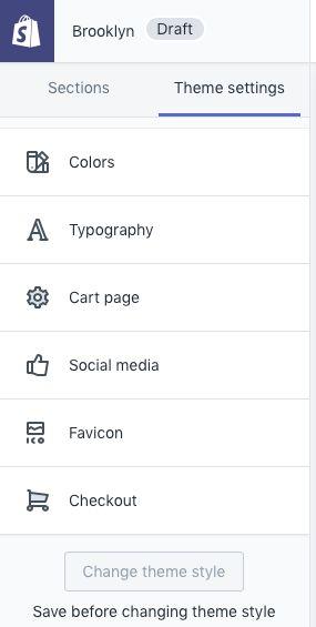 Shopify Theme Settings
