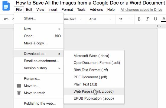 How to Download All the Images From a Google Doc or