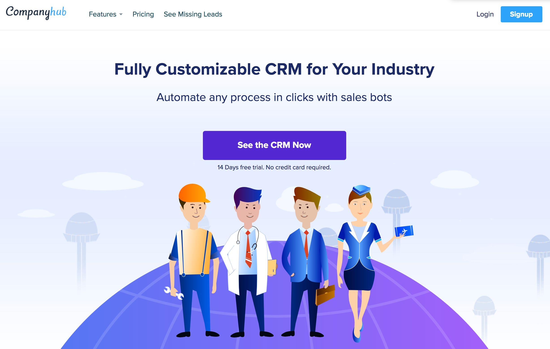Companyhub home page