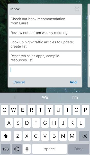 Trello iPhone app