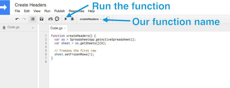 run script editor function