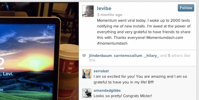 The Momentum app goes viral