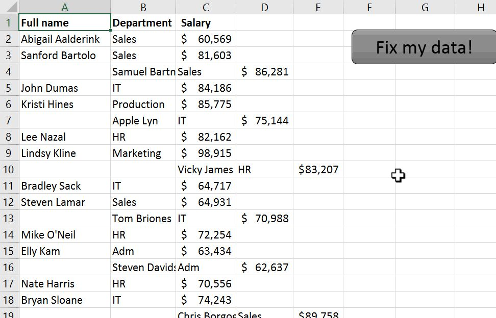 example macro running in Excel