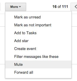 mute an email