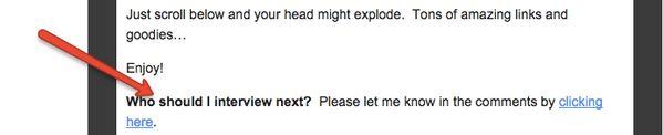 Tim Ferriss email CTA