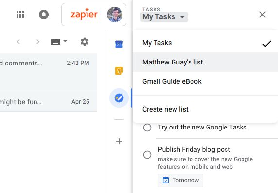 Google Tasks Lists