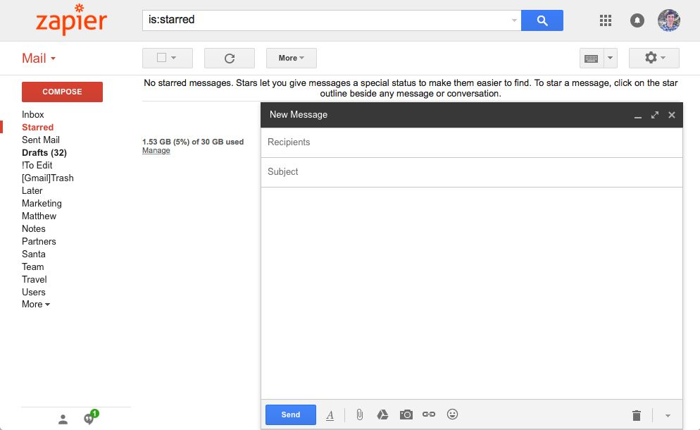 Gmail with custom logo