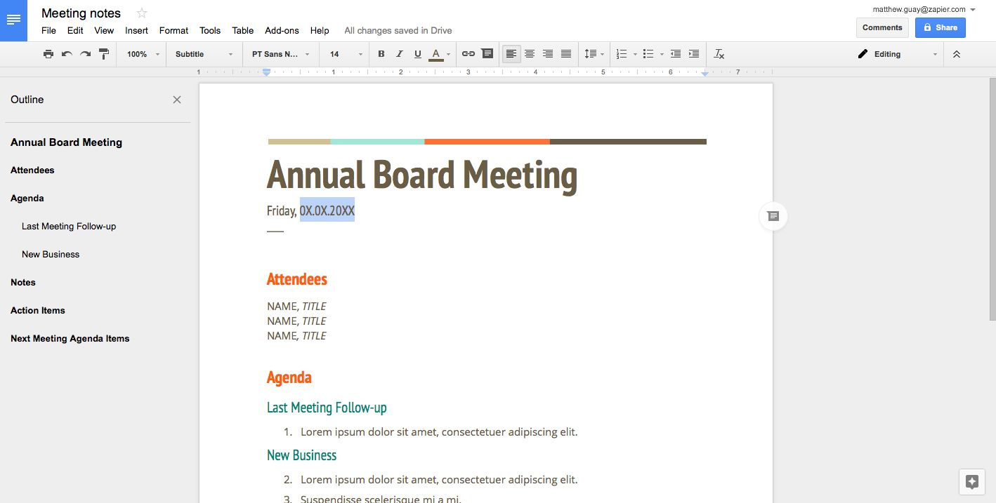 Create A Template Document In Google Docs