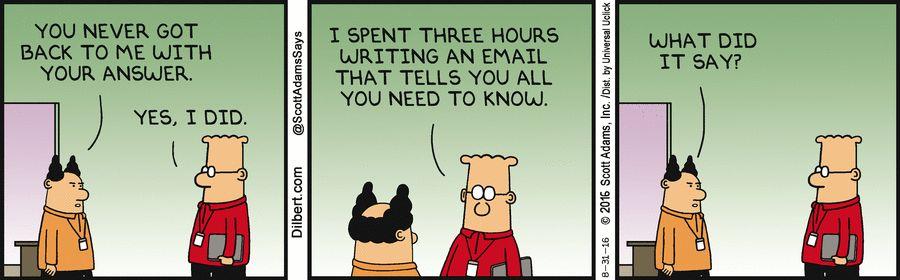 Dilbert meeting email