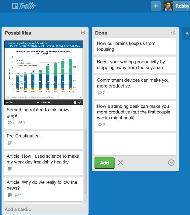 Robby Macdonnell Trello example
