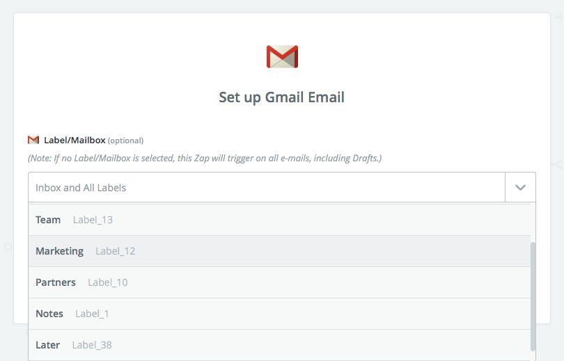 Gmail Zapier