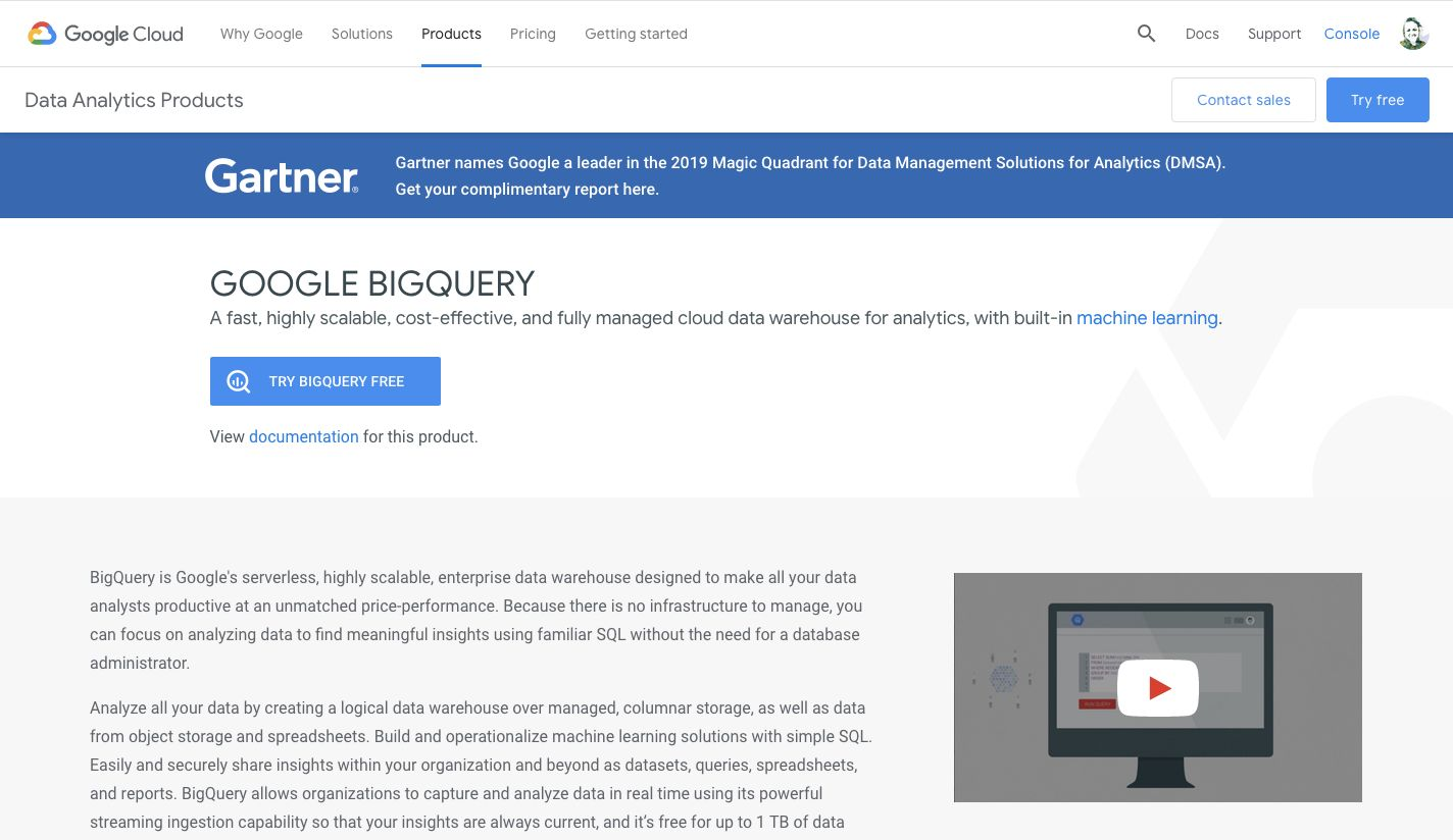 Google BigQuery - Features, Pricing, Alternatives, and More | Zapier