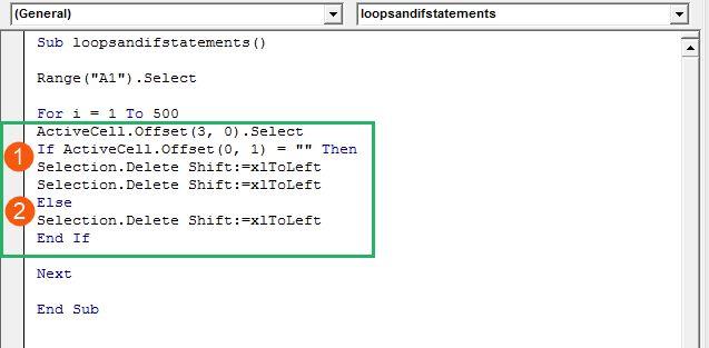 Excel Macro if code