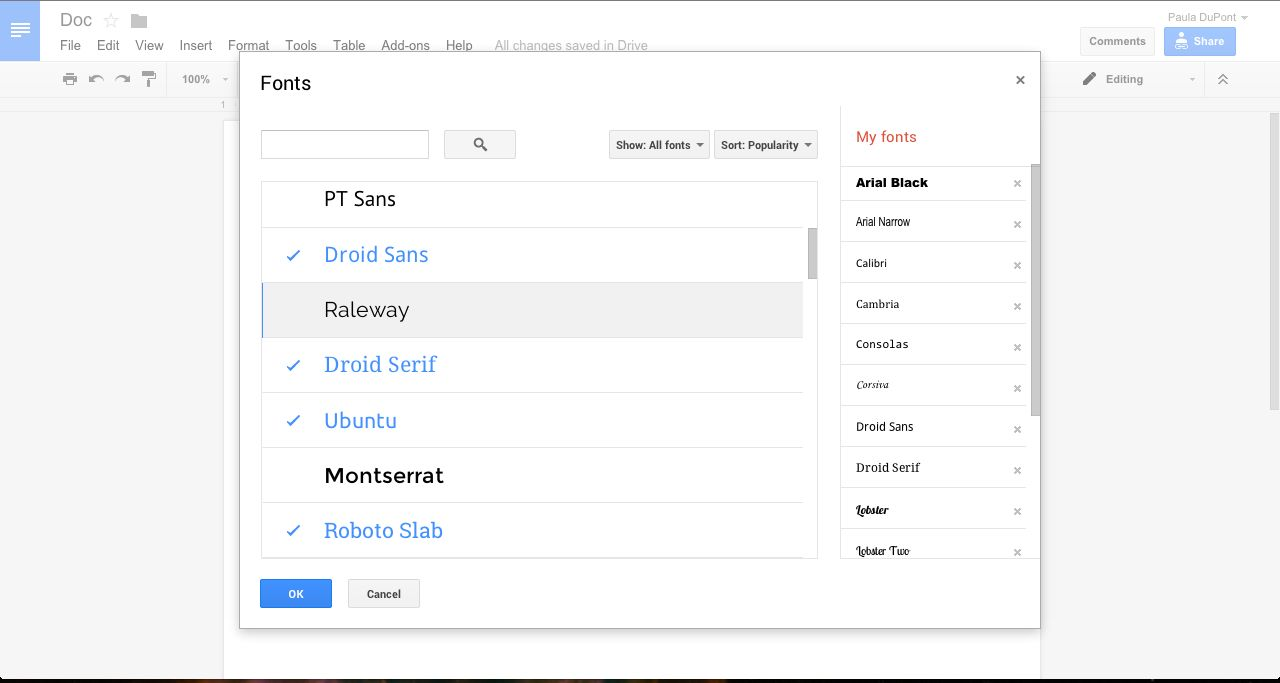 Get More Google Docs Fonts