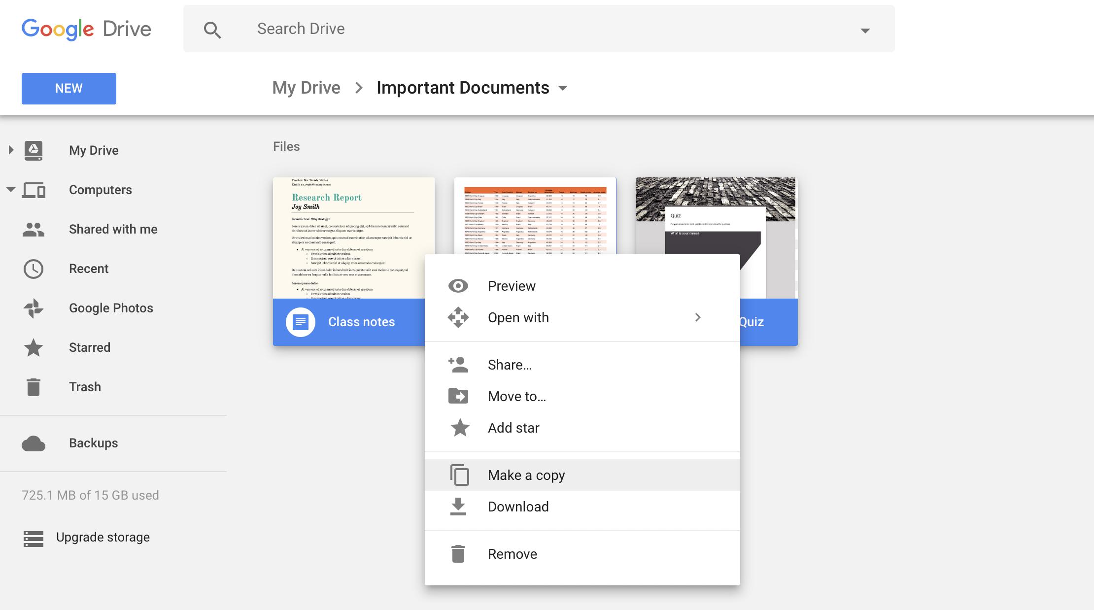 Folder as pdf google drive