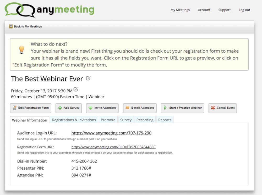 AnyMeeting Webinars