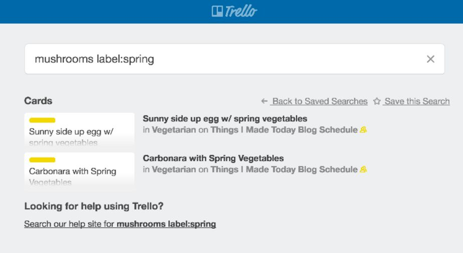 Trello search