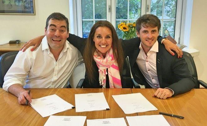Jon Hulme, Sarah Willingham, and John Burke make their partnership official.