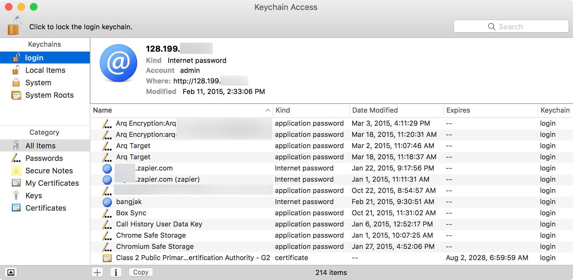 OS X iCloud Keychain