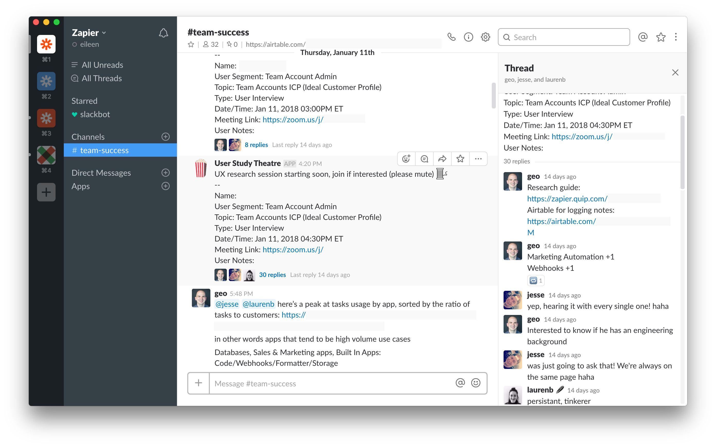 Slack bot notification