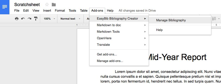 Use Google Docs add-on