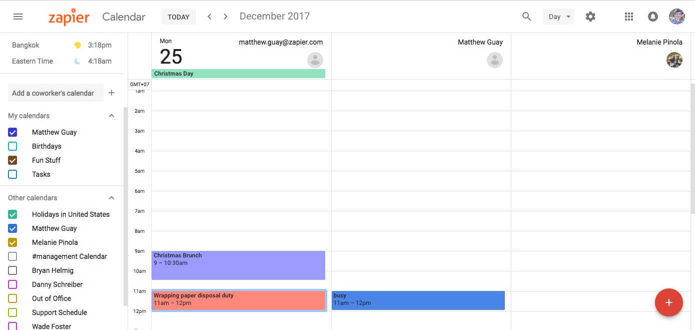 new Google Calendar schedule view