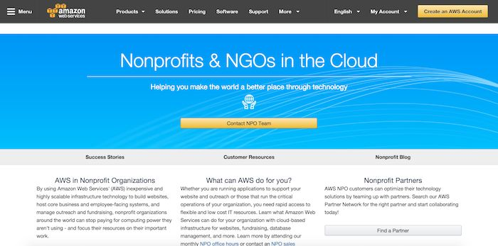 Amazon Web Services for Nonprofits