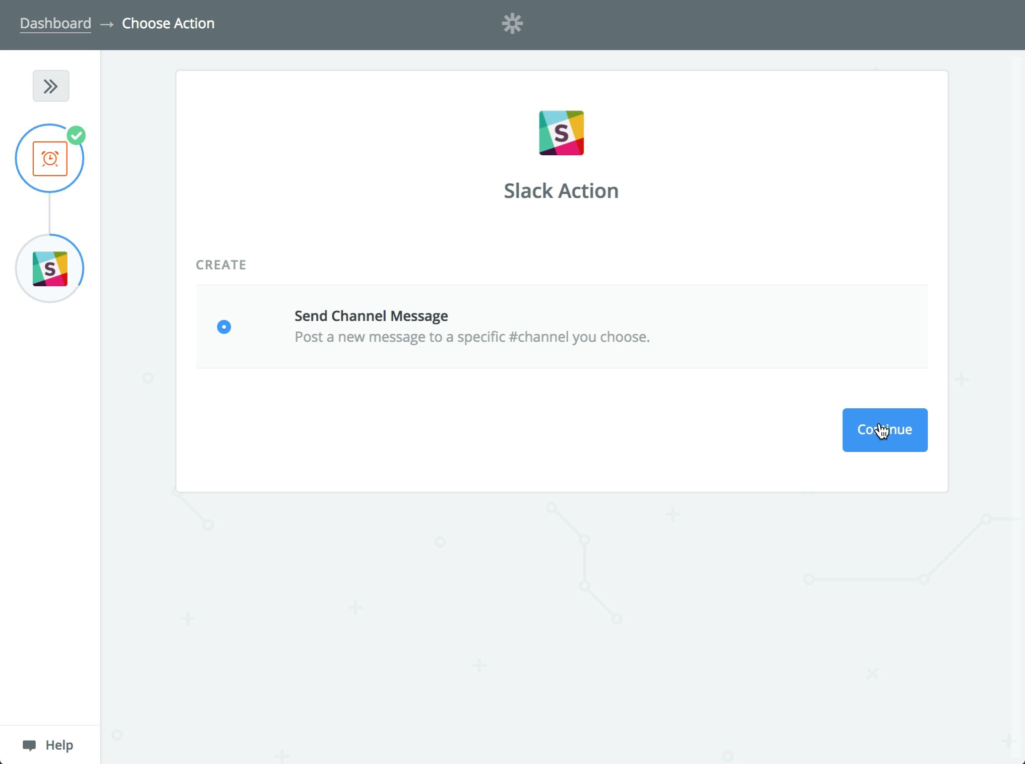 See that Slack will be sending a new channel message