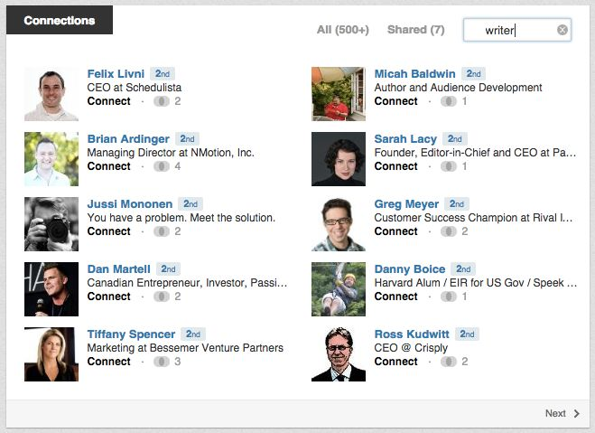 Search for candidates on LinkedIn