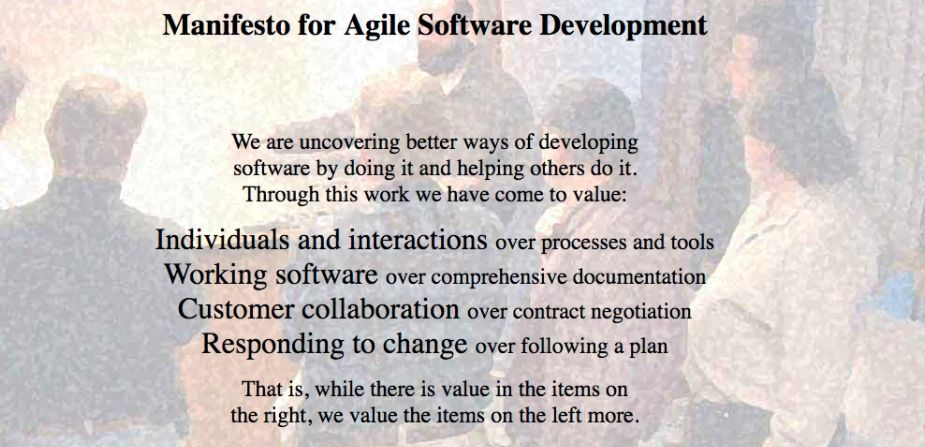 Agile Software Development Manifesto