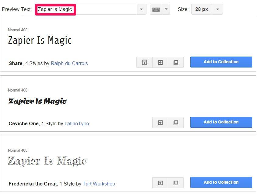 chage google fonts text