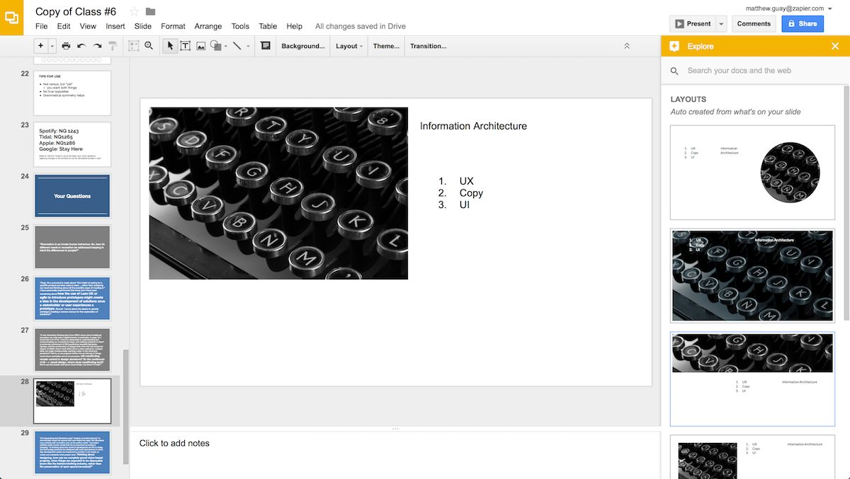 Explore in Google Slides
