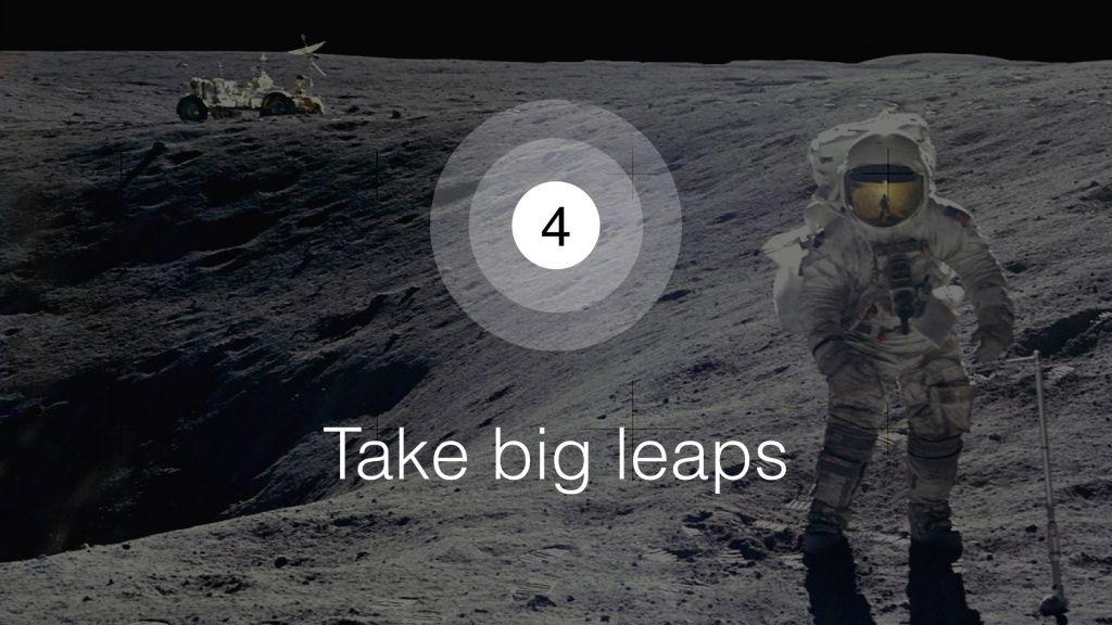 Take Big Leaps slide