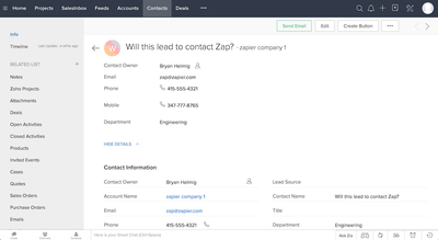 Zoho CRM Screenshot (3)