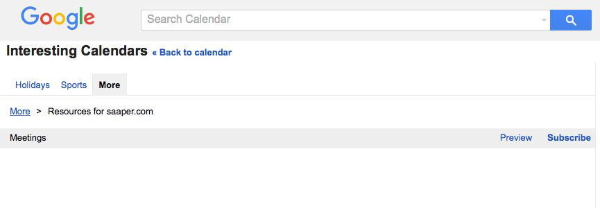 Subscribe to G Suite Resource Calendar