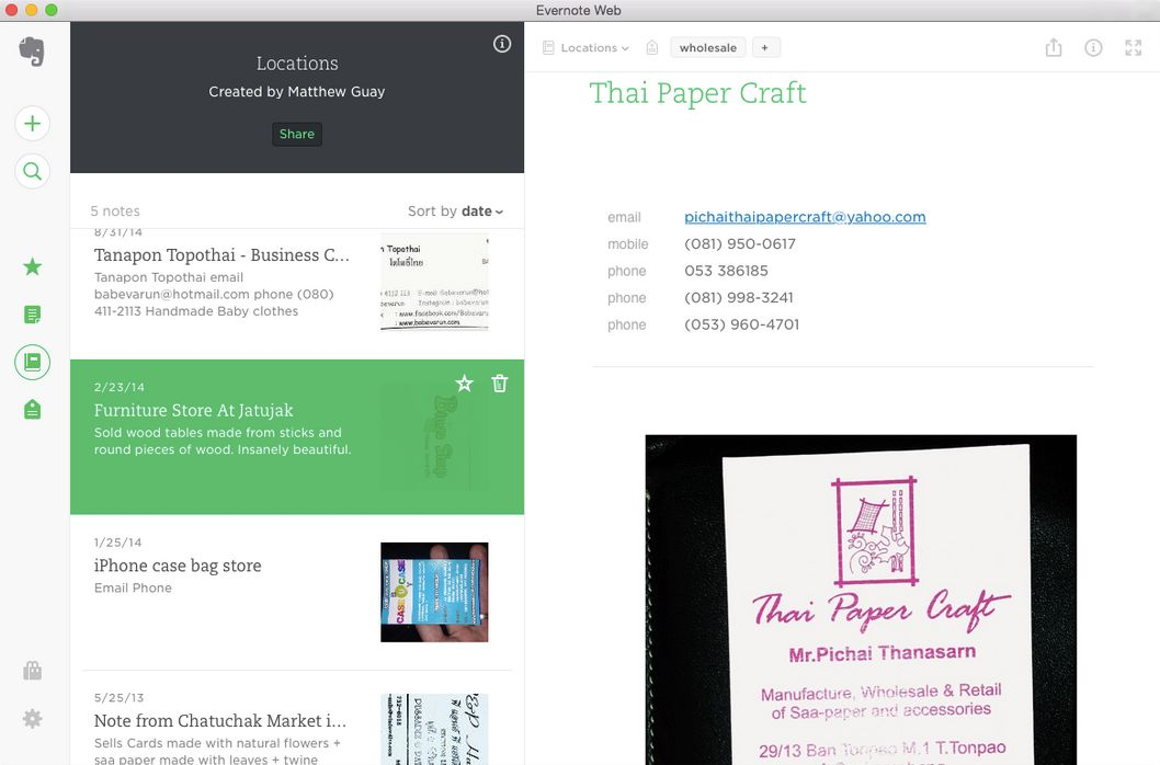 new evernote web