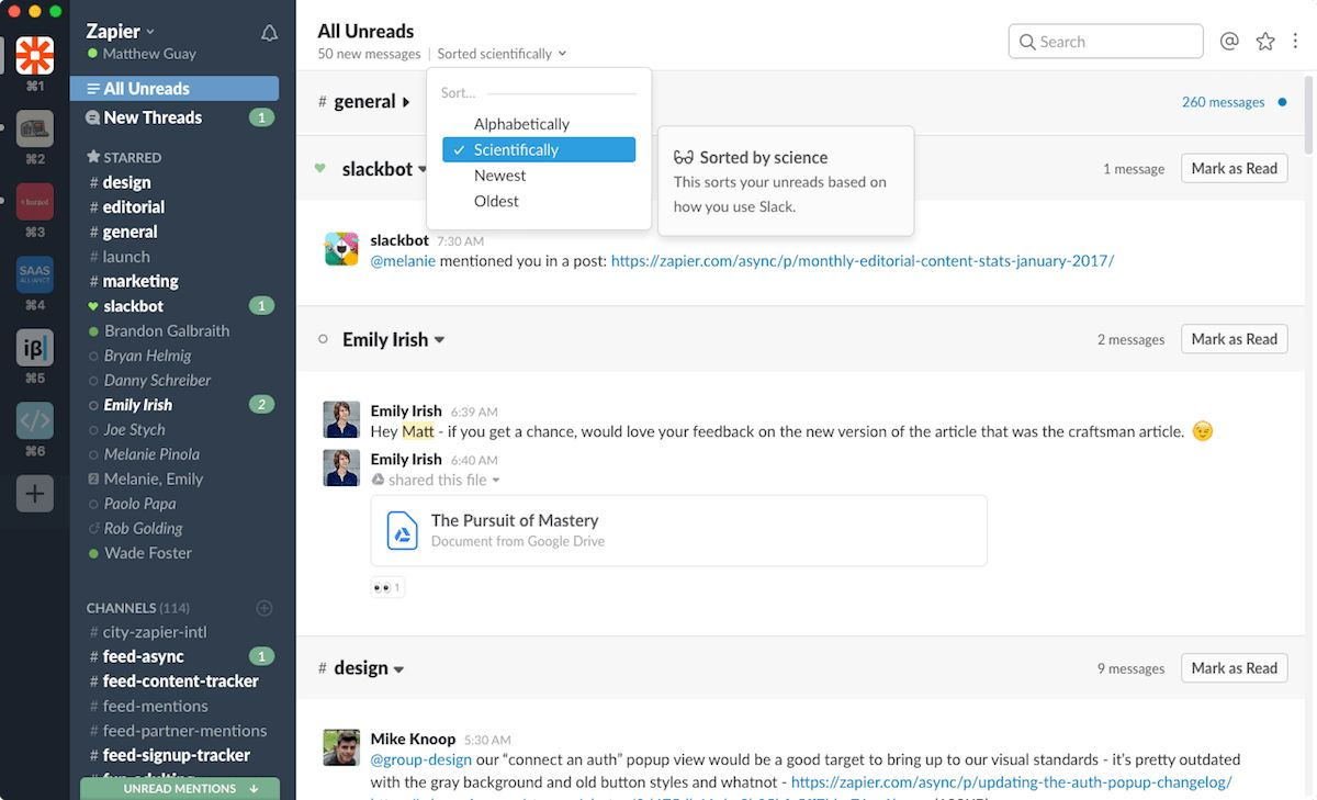 Slack All Unreads