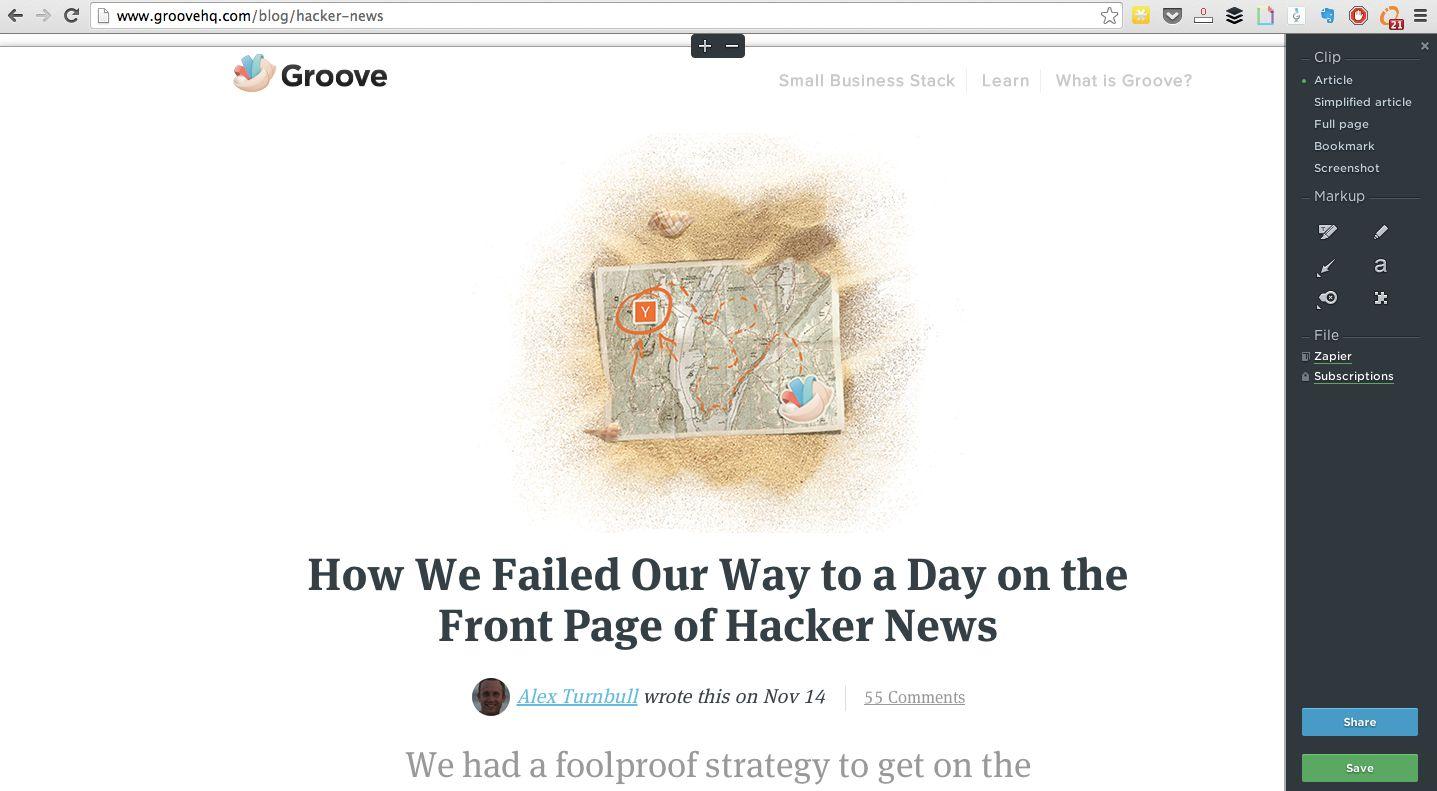 Evernote Web Clipper screenshot