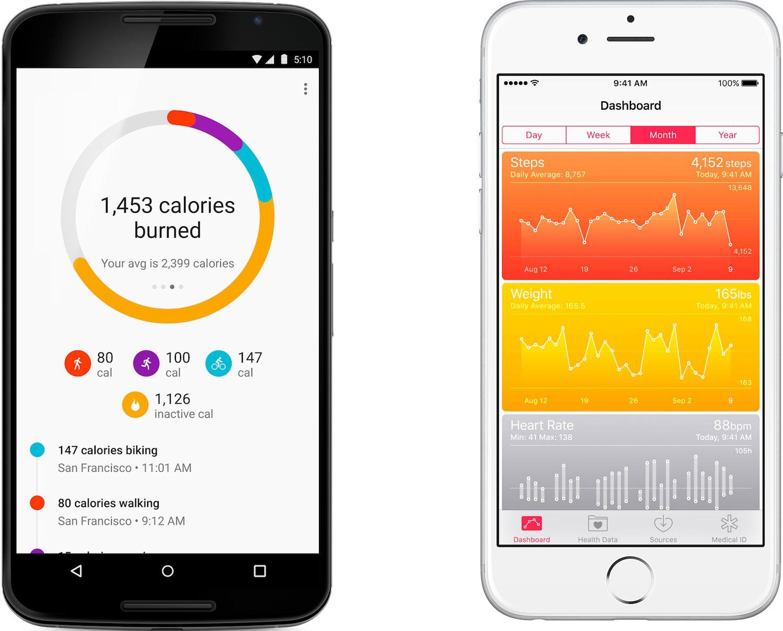 Google and Apple Health