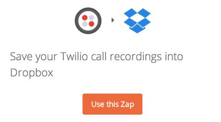 Save your Twilio call recordings into Dropbox