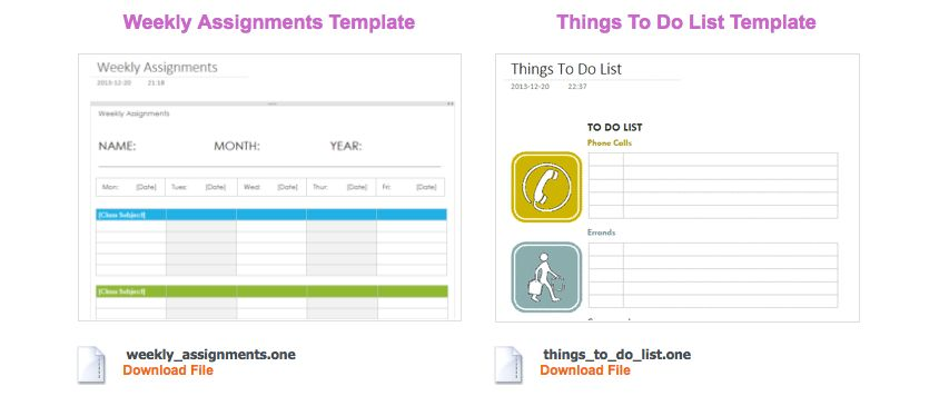 use onenote templates to streamline meeting class project and